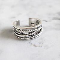 【ゆうパケ対象】silver925wide cross ring