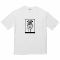 【LOVE CREW】選べる柄とサイズ  ユニセックスビッグデザインTシャツ-パグa【送料無料】