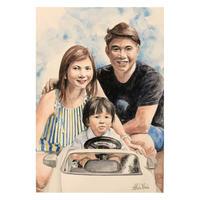 家族の肖像画(A4・3人)