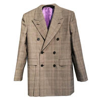 JOHN LAWRENCE SULLIVAN CHECKED WOOL VENTED JACKET