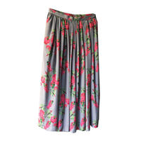 Flower Printed Gather Skirt