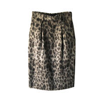 JOHN LAWRENCE SULLIVAN LEOPARD SHAGGY TUCKED SKIRT