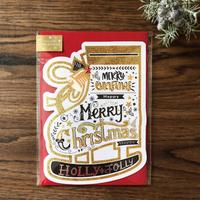 スケート靴型のクリスマスカード