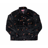 Supreme Velvet Trucker Jacket (Black Sacred Hearts)
