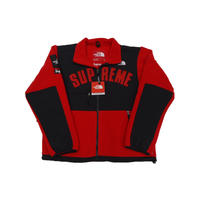 Supreme The North Face Arc Logo Denali Fleece Jacket Red