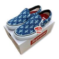Supreme Vans Hole Punch Denim Slip-On Pro (Blue)