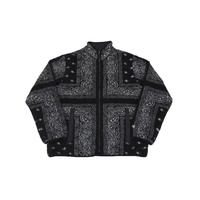 Supreme Reversible Bandana Fleece Jacket Black