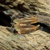 Feather Ring Gold