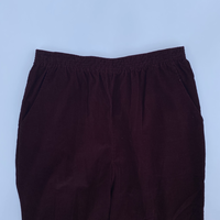 old corduroy easy pants. wine red.