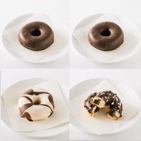 チョコづくし4個セット(チョコ2個、ホワイトチョコ、ダブルチョコクリーム)