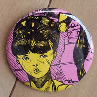 CAN BADGE_PONYTAIL GIRL (ポニーテール缶バッジ)