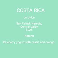 【LIMITED BEANS】COSTA RICA La Union   SL28 Natural / 100g