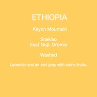 ETHIOPIA Kayon Mountain Washed /  100g