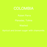 COLOMBIA Ruben Parra - Washed / 250g