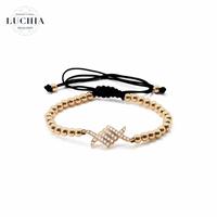 Handmade woven bracelet  type 1 rose gold