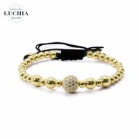 Handmade woven bracelet  type 16 gold