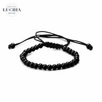 Handmade woven bracelet  type 4 black