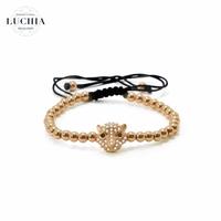 Handmade woven bracelet  type 14 rose gold