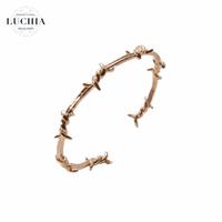 Handmade woven bracelet  type 26 rose gold