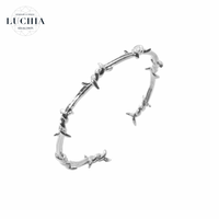 Handmade woven bracelet  type 26 silver