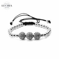 Handmade woven bracelet  type 5 silver