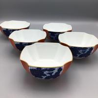 香蘭社 染錦菊紋鉢(5客揃)