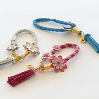 レザー四つ編みキーホルダーキット(お花なし)