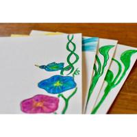 アサガオと鳥 オリジナルポストカード
