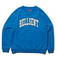 HELLRAZOR【 ヘルレイザー】HELLSENT CREW SWEAT クルースウェット サックスブルー