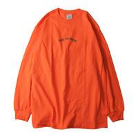 LUCKYWOOD【 ラッキーウッド】 SAVE THE GREEN  L/S TEE  ロンT オレンジ