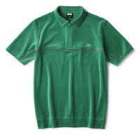 FTC【 エフティーシー】PIPING VELOUR POLO GREEN ベロア ポロシャツ グリーン