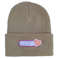 Frog skateboards【フロッグスケートボード】PERFECT HEART BEANIE OATMEAL ビーニー オートミル