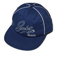 HELLRAZOR【 ヘルレイザー】SUCKS PIPING CAP キャップ 帽子ネイビー