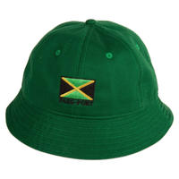 "PASS~PORT【 パスポート】""JAMAICA"" CANVAS BUCKET CAP GREEN バケット ハット グリーン"
