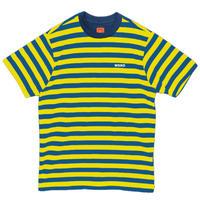 WKND【 ウィークエンド】STRIPE SHIRT-BLUE/YELLOW ストライプ Tシャツ