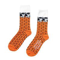 坩堝【 るつぼ】CATS SOCKS (RUTSUBO×FACE×DFW)靴下 ソックス オレンジ