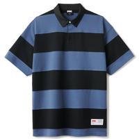 FTC【 エフティーシー】BOLD STRIPE RUGBY SHIRT BLACK ラグビーシャツ ブラック