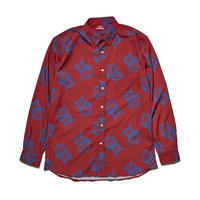 HELLRAZOR【 ヘルレイザー】PAISLEY DRESS SHIRTS RED ペイズリー ドレス シャツ レッド