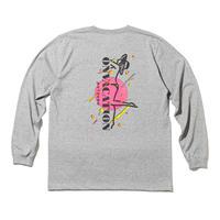 坩堝【 るつぼ】VACATION GIRL LST-Shirts (RUTSUBO×ALLRAID)ロンT グレー