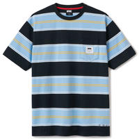 FTC【 エフティーシー】POCKET STRIPE TEE BLACK ストライプ ポケット Tシャツ ブラック