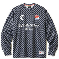 FTC【 エフティーシー】CHECKER GAME JERSEY BLACK ブラック