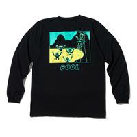 坩堝【 るつぼ】Pool LST-Shirts(RUTSUBO×YUSUDA)ロンT ブラック