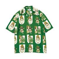 EVISEN【 えびせん】THRILL ALOHA GREEN アロハシャツ  グリーン