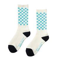 坩堝【 るつぼ】CHECKER SOCKS 靴下 ソックス ホワイト