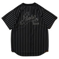 HELLRAZOR【 ヘルレイザー】SUCKS MESH BASEBALL SHIRT ベースボールシャツ ブラック
