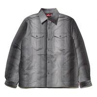 HELLRAZOR【 ヘルレイザー】STRIPE FLANNEL SHIRT JACKET シャツ ジャケット ブラック