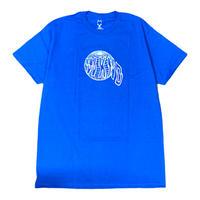 WKND【 ウィークエンド】  GLOBE TEE  Tシャツ ロイヤルブルー
