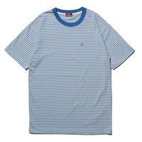 HELLRAZOR【 ヘルレイザー】h STRIPED SHIRT ストライプ シャツ ブルー