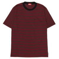 HELLRAZOR【 ヘルレイザー】H STRIPED SHIRT BLACK/RED  半袖シャツ ブラックレッド