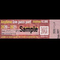 チケット「Anytime live pass port」